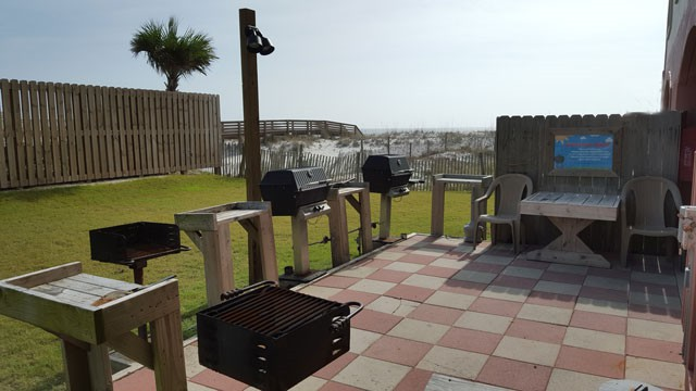 Grill Area - gas grills and charcoal