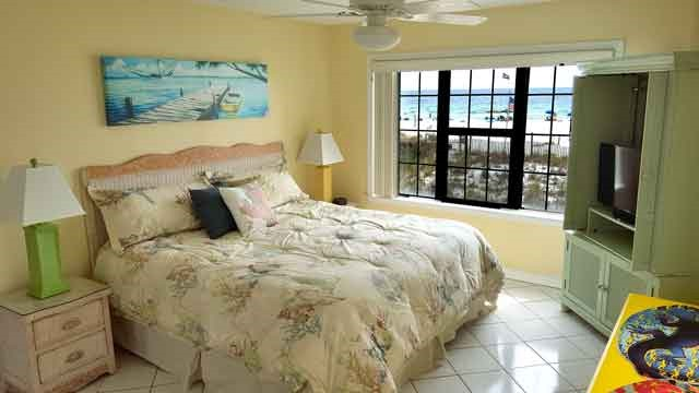Master Bed and Beach View